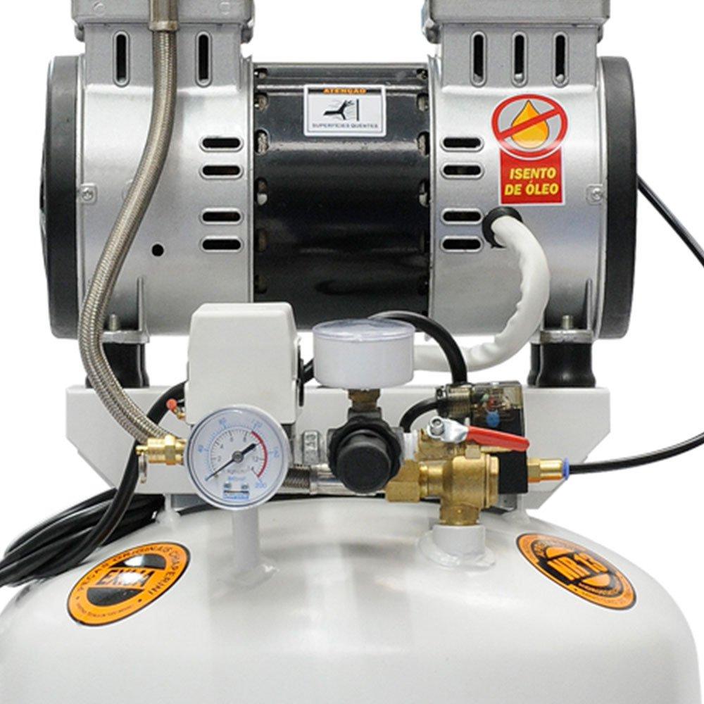 Motocompressor Odontológico 2HP 10 Pés 60 Litros Isento de Óleo  - Imagem zoom