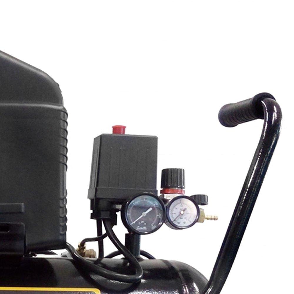 Motocompressor de Ar Bulldog Robust 2HP 8,1 Pés 24 Litros Monofásico  - Imagem zoom