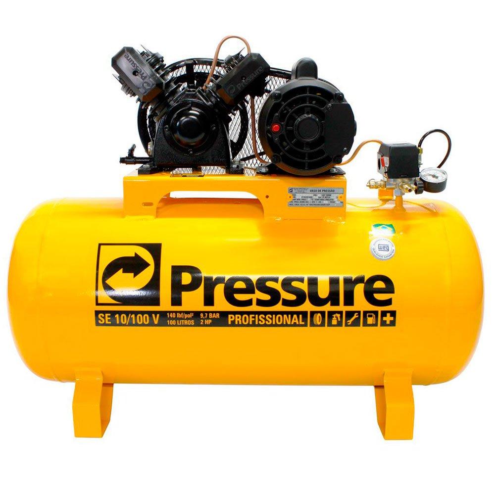 Kit Compressor de Ar 10 Pés 110/220V Pressure SE10/100V + Parafusadeira de Impacto Pneumática FortG Pro FG3100 - Imagem zoom