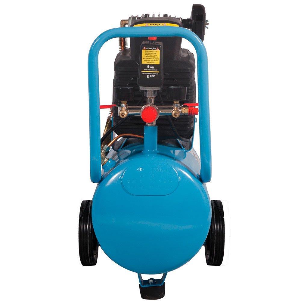 Motocompressor de Ar com 2 Saídas de Ar e Protetor Térmico 7,2 Pes 24L 2HP  - Imagem zoom