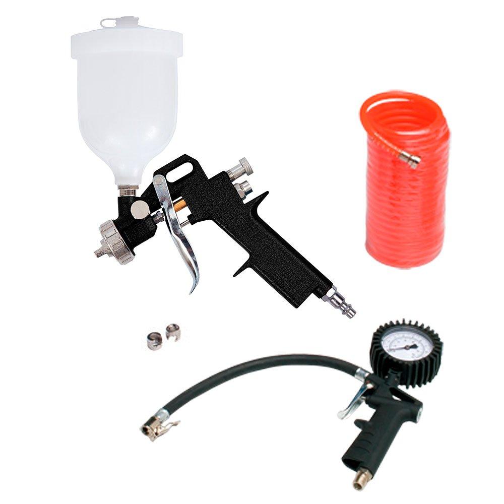 Motocompressor de Ar 2 Saídas de Ar e Protetor Térmico 7,2 Pés 2HP 24L com Kit de Pintura - Imagem zoom