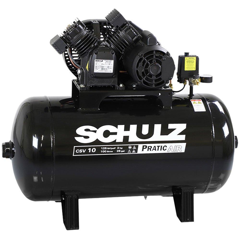 Compressor de Ar Pratic Air Mono 2HP 10 Pés 125 Libras  - Imagem zoom