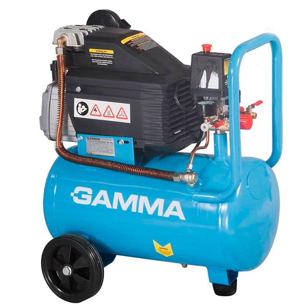 Kit Motocompressor de Ar Mono 2 Saídas de Ar 24L 2HP  - GAMMA-G2801 + Jogo de Pintura com 03 Peças - Imagem zoom