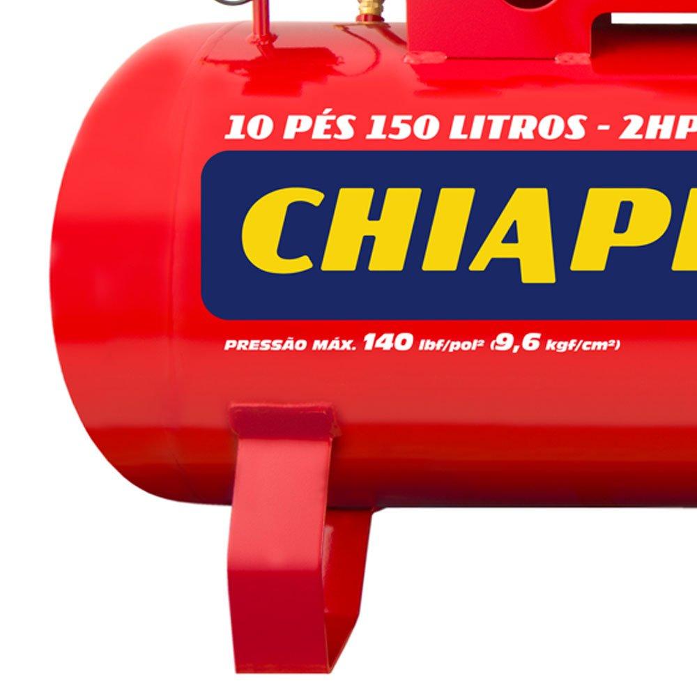 Compressor de Ar Red Média Pressão 10 Pés 140PSI 2HP 150 Litros 110/220V - Imagem zoom