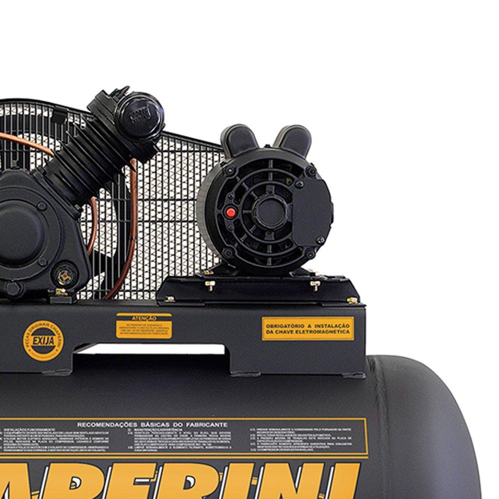 Compressor de Ar Baixa Pressão 10 Pés 120PSI 2HP 150 Litros 110/220V Profissional - Imagem zoom