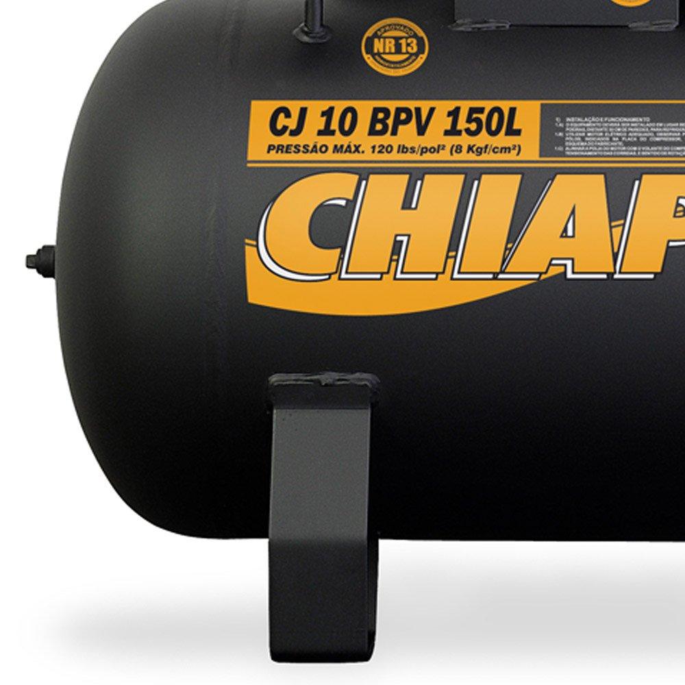 Compressor de Ar Baixa Pressão 10 Pés 2HP 150 Litros 220/380V Trifásico - Imagem zoom