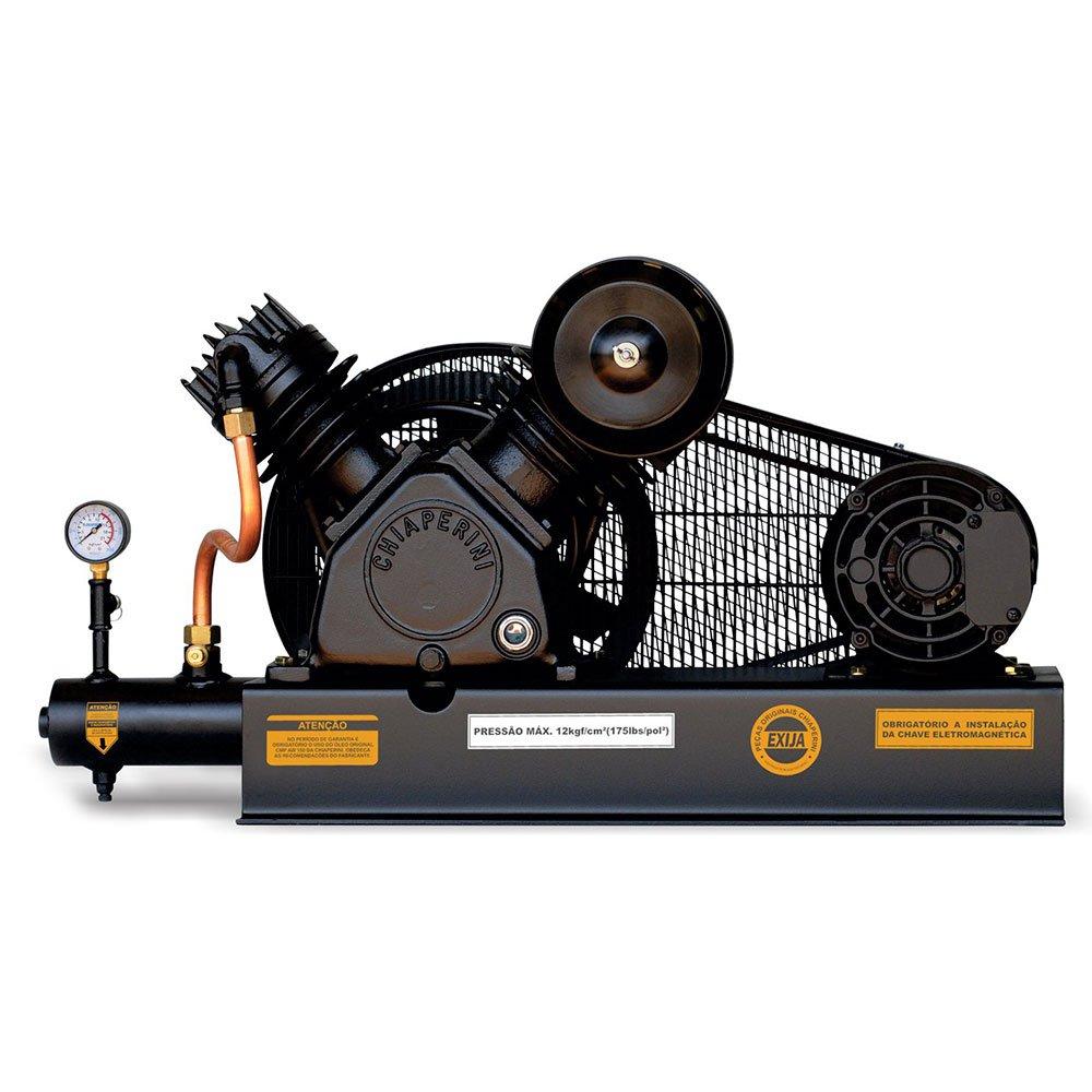 Compressor De Ar Alta Pressão Sobre Base CJ15 + APV 15 Pés 3HP 2P 175PSI 220/380V Trifásico - Imagem zoom