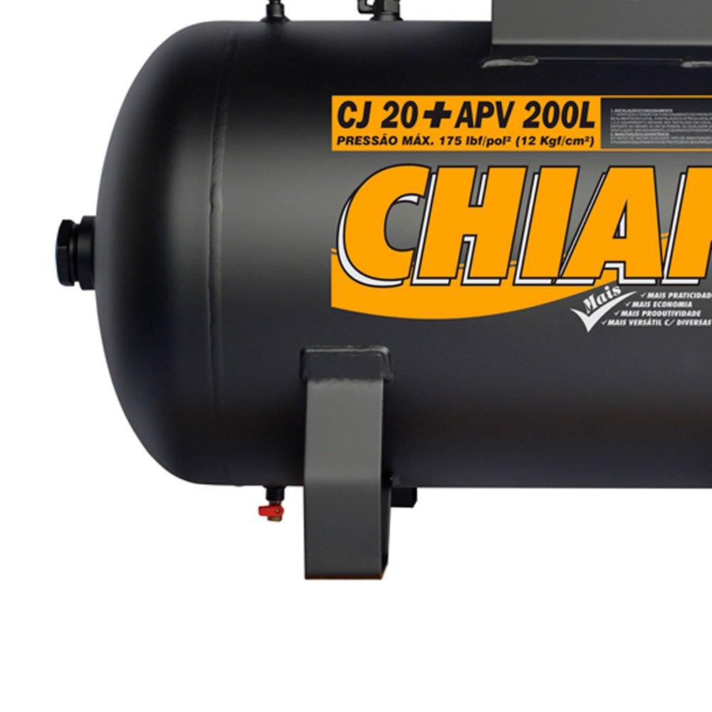 Compressor de Ar Alta Pressão CJ20 + APV 20 Pés 200L 175PSI sem Motor - Imagem zoom