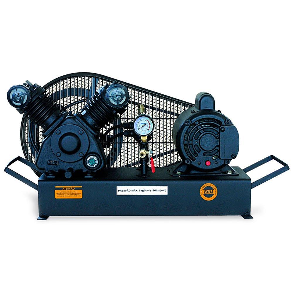 Compressor de Baixa Pressão sobre Base CJ5.2 BPV 5,2 Pés 120PSI 1HP 110/220V Mono - Imagem zoom