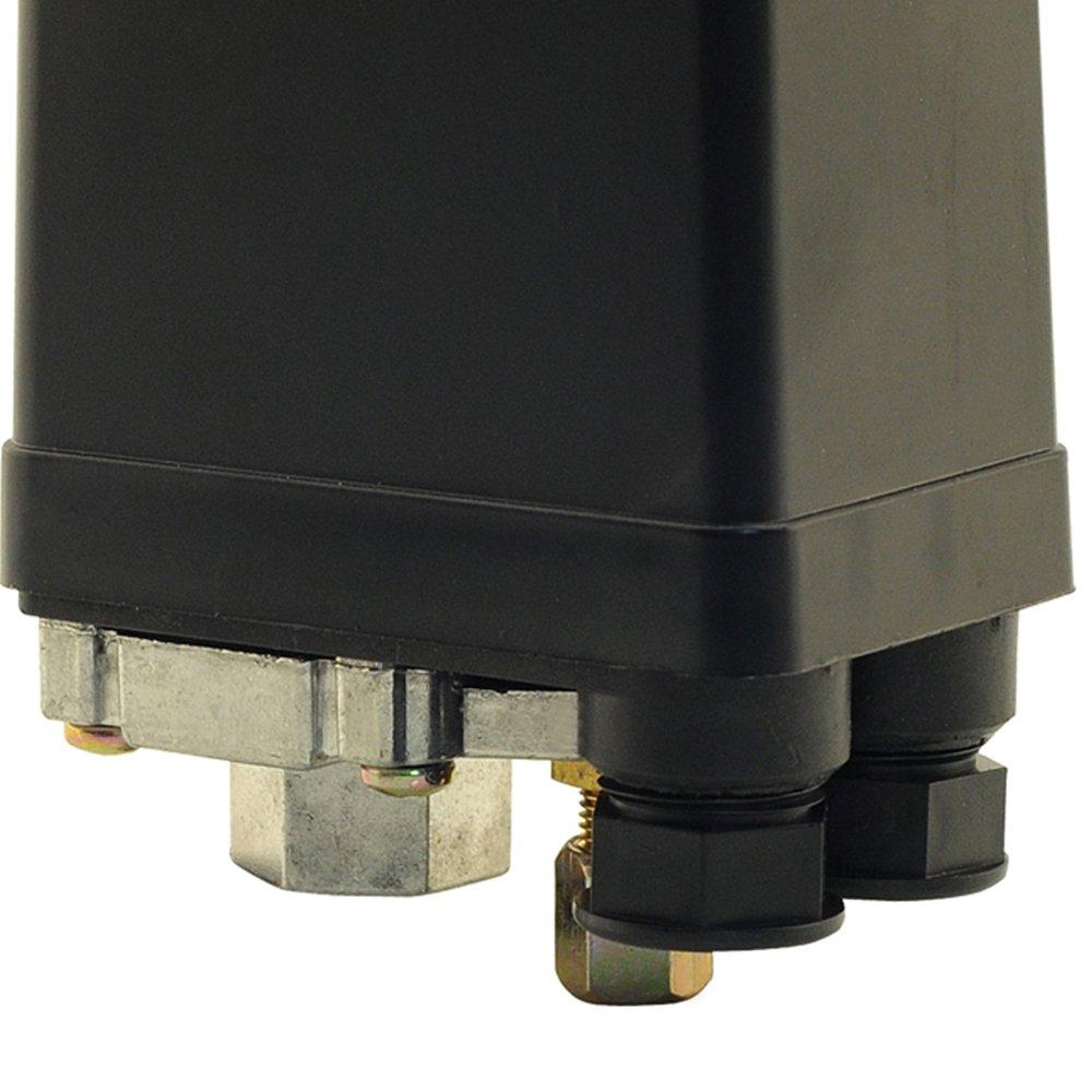 Pressostato Vertical 100/140PSI com Chave 1 Via sem Válvula e Manifold para Compressor de Média Pressão - Imagem zoom