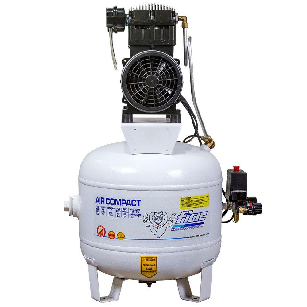 Compressor Odontológico 10 Pés 2CV 40 Litros Isento de Óleo  - Imagem zoom