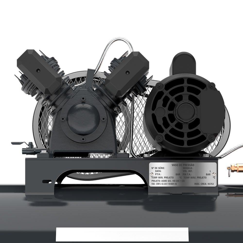 Compressor de Ar Média Pressão 10 Pés 140 Libras 2HP Monofásico 2P 110/220V - Imagem zoom