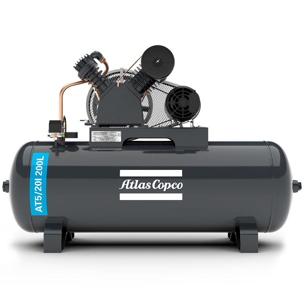 Compressor de Ar Alta Pressão 20 Pés 200L 175 Libras 5HP Trifásico 2P 220/380V - Imagem zoom