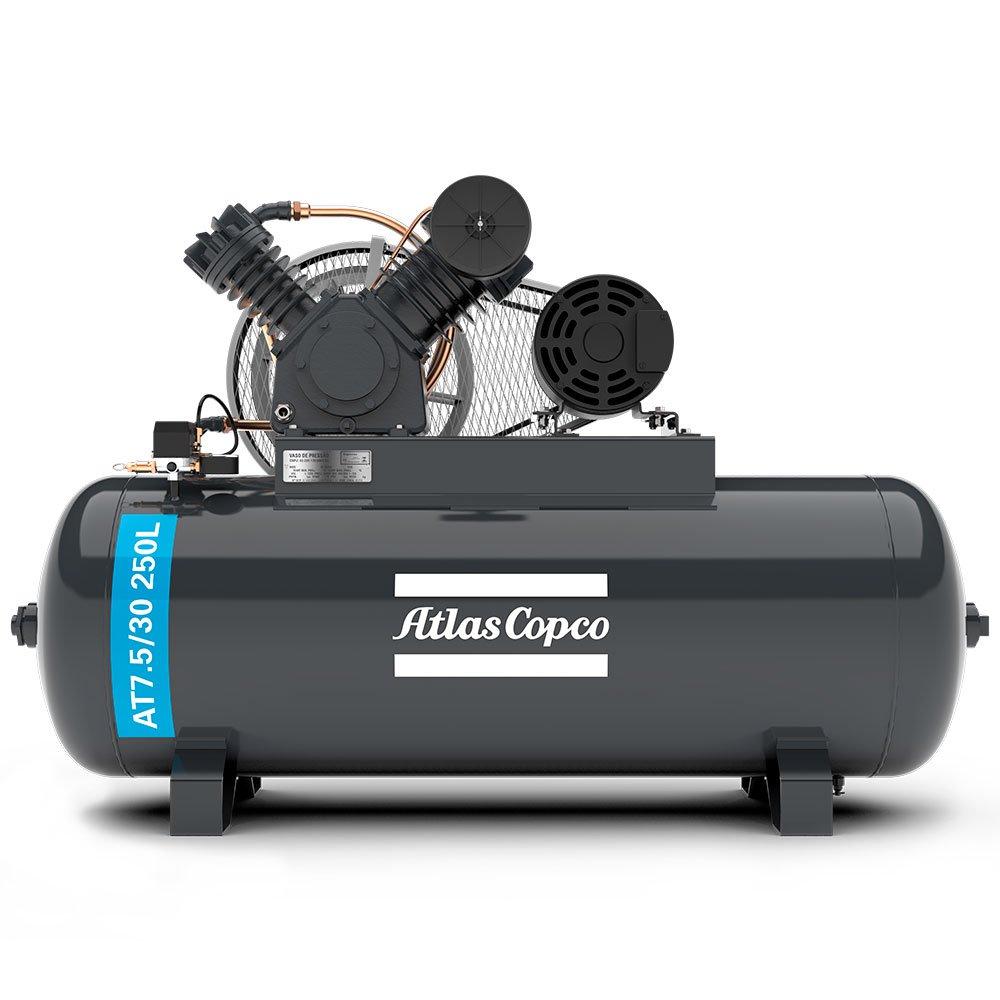 Compressor de Ar Alta Pressão 20 Pés 250L 175 Libras 5HP Trifásico 2P IP55 220/380V Motor Fechado - Imagem zoom