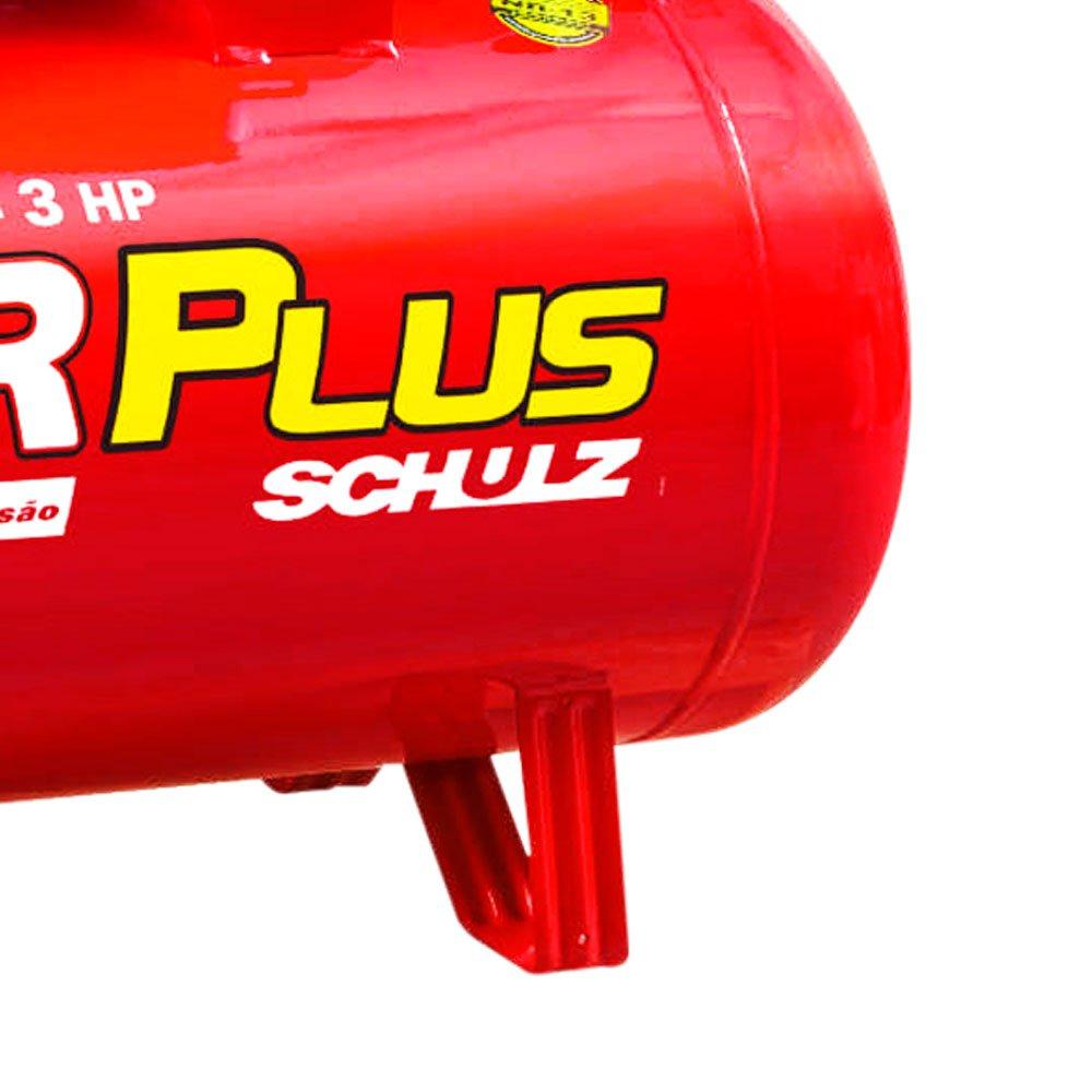 Compressor Air Plus 3HP 15 Pés 100L 140PSI 110/220V Monofásico - Imagem zoom