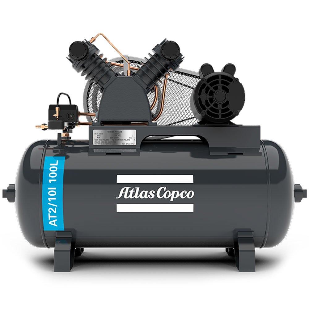 Compressor de Ar Média Pressão 10 Pés 140 Libras 2HP Trifásico 2P 220/380V - Imagem zoom