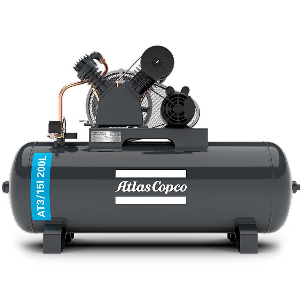 Compressor de Ar Alta Pressão 15 Pés 175 Libras 3HP Monofásico 2P 110/220V - Imagem zoom