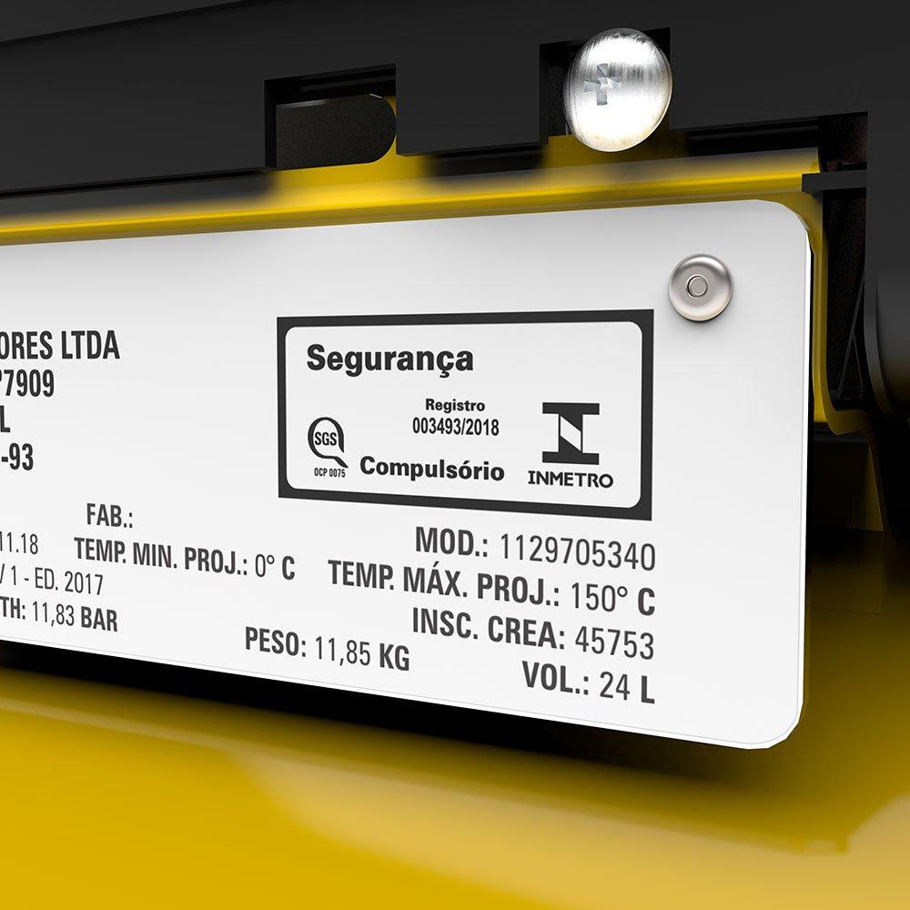 Motocompressor de Ar 8,2 Pés 2HP 24 Litros 116 PSI  - Imagem zoom