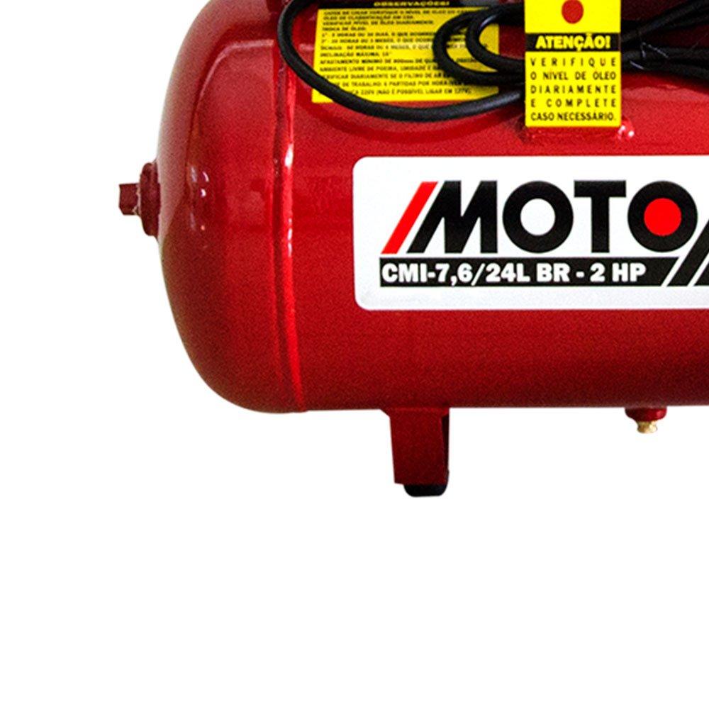 Motocompressor de Ar 7,6 Pés3/min 2,0HP 24 Litros 220V - Imagem zoom