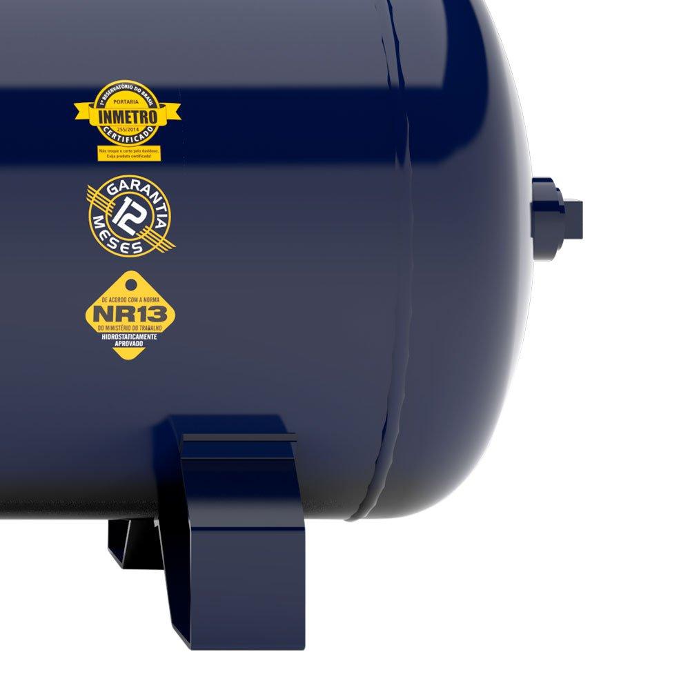 Compressor de Ar 15 Pés 175 PSI 200 Litros Trifásico 220/380V - Imagem zoom