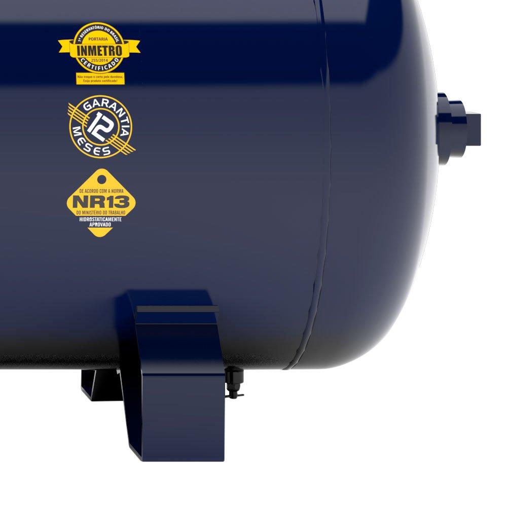 Compressor de Ar 20 Pés 175 PSI 250 Litros Alta Pressão Industrial Trifásico 220/380V - Imagem zoom