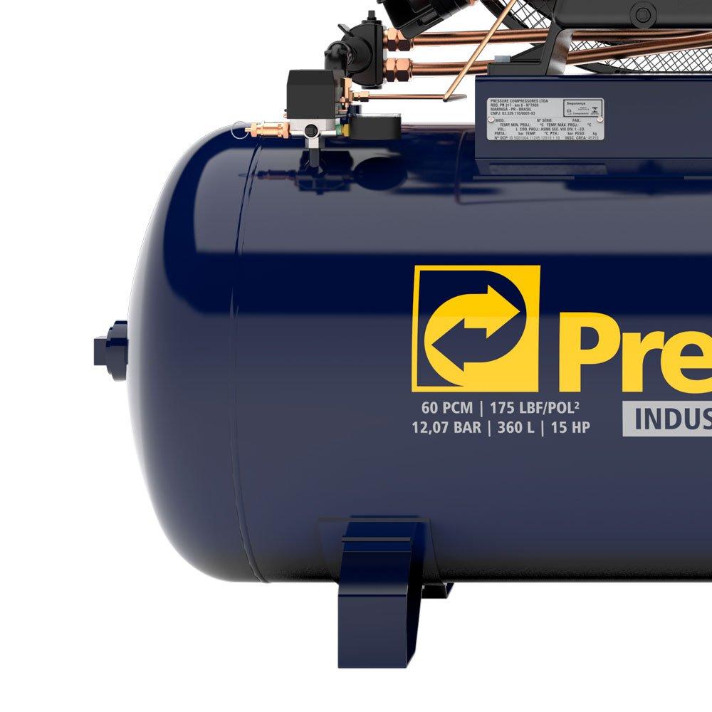 Compressor de ar Super Ar 60 Pés 360L 15HP IP55 380/ 660V Trifásico - Imagem zoom