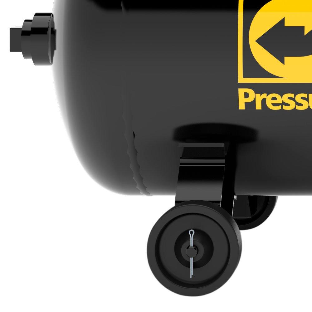 Compressor de Ar 10 Pés 140 PSI 100 Litros Monofásico 110/220V 2Hp - Imagem zoom