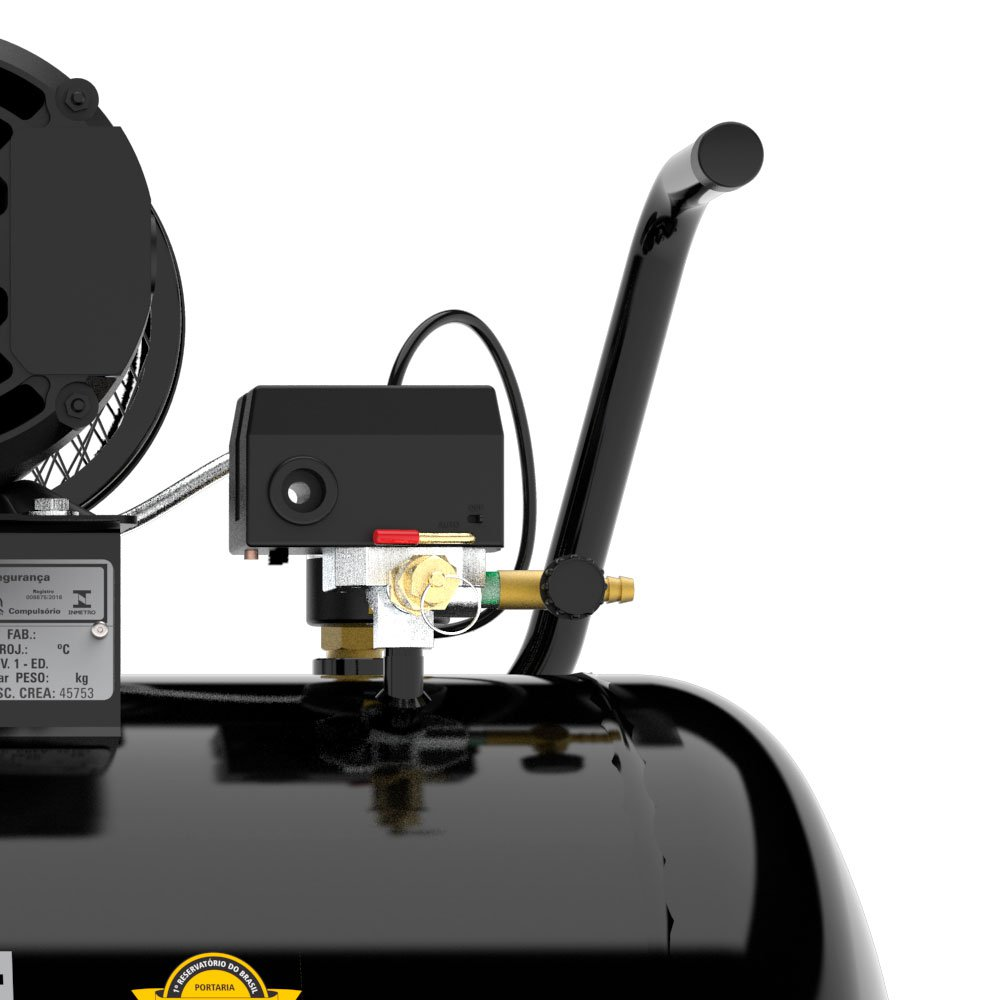 Compressor de Ar 10 Pés 140 PSI 100 Litros Trifásico 220/380V 2Hp - Imagem zoom