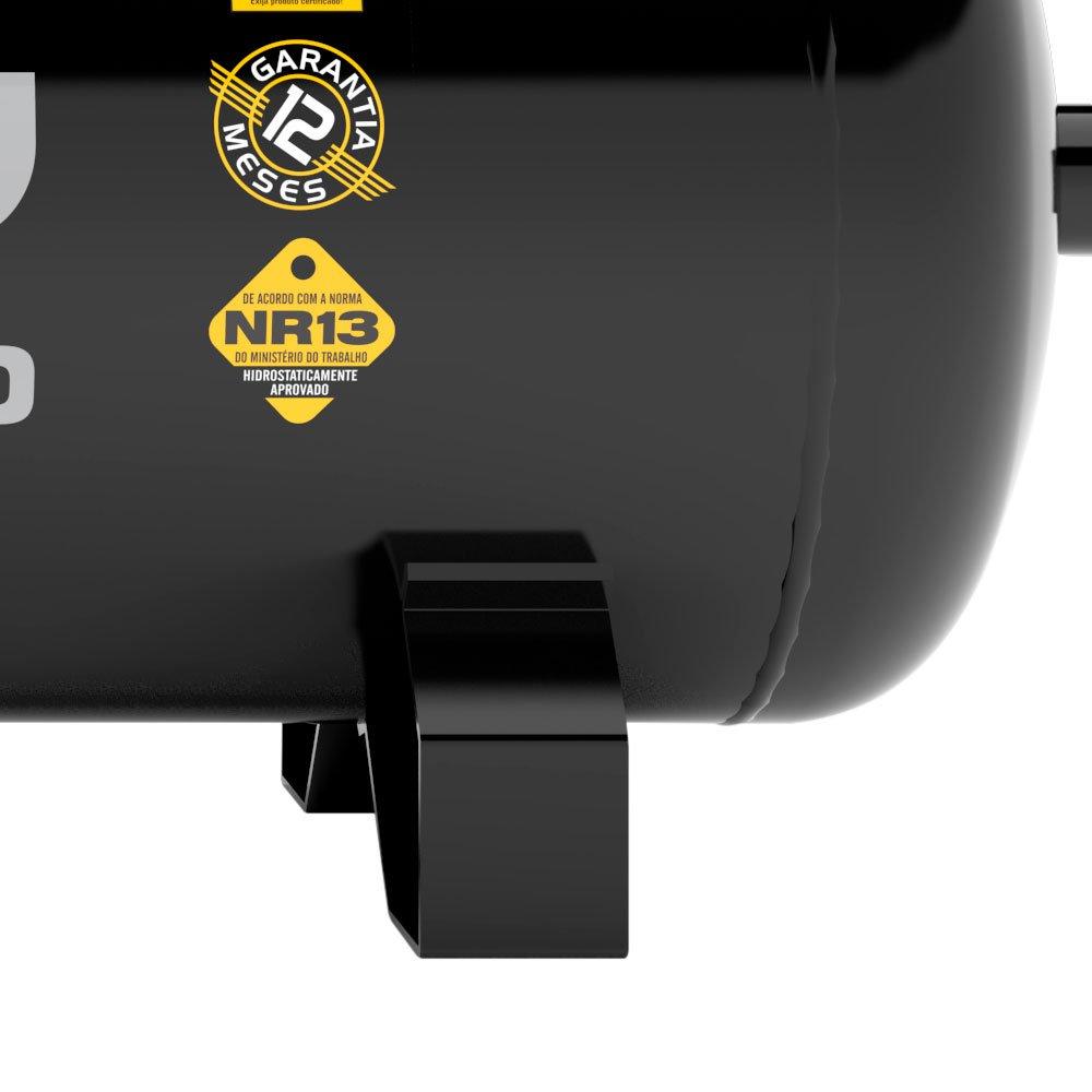 Compressor de Ar 15 Pés 140 PSI 175 Litros Trifásico 220/380V 3Hp - Imagem zoom