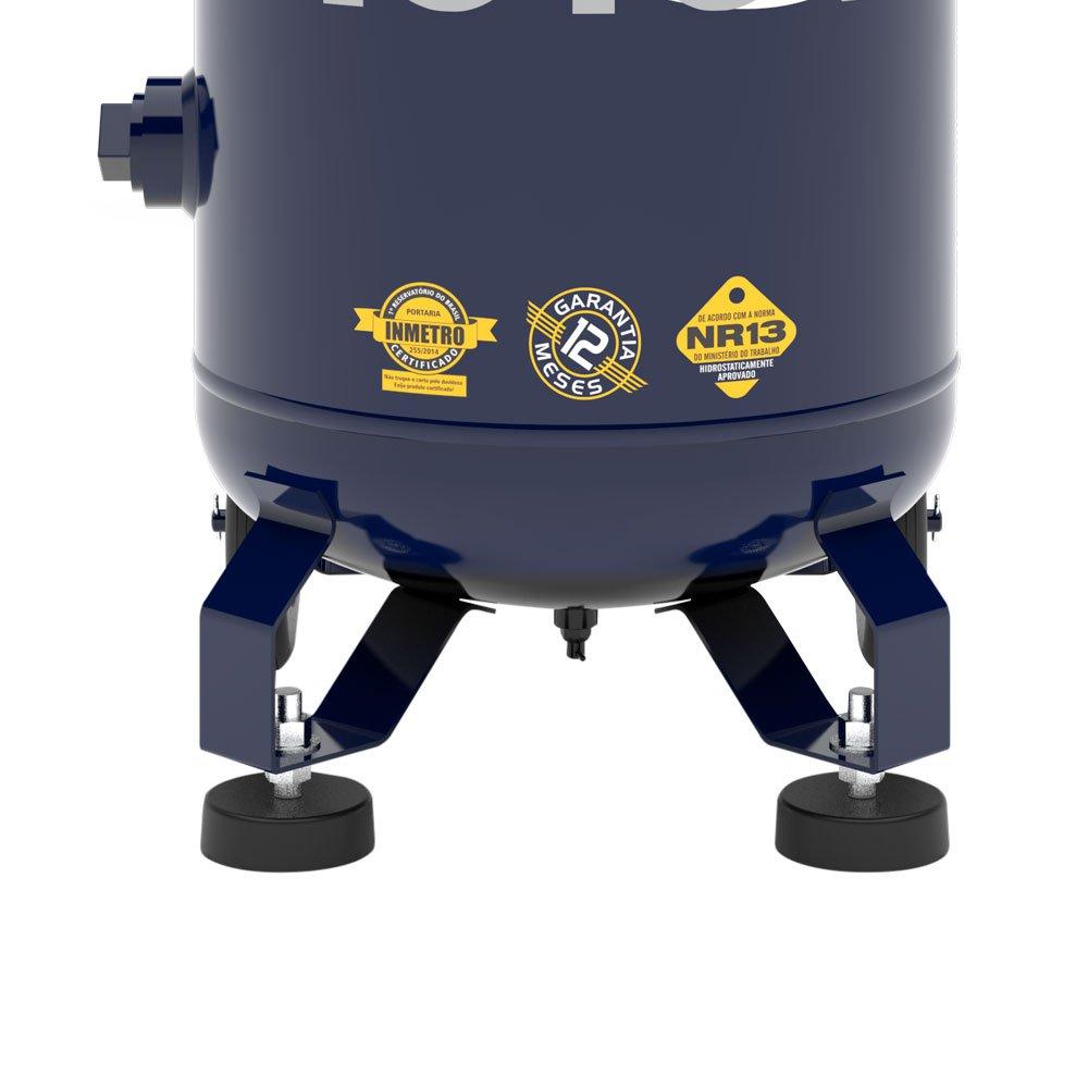 Compressor de Ar Vertical Notus 2HP 80 L 10 Pés 110/220V Mono - Imagem zoom