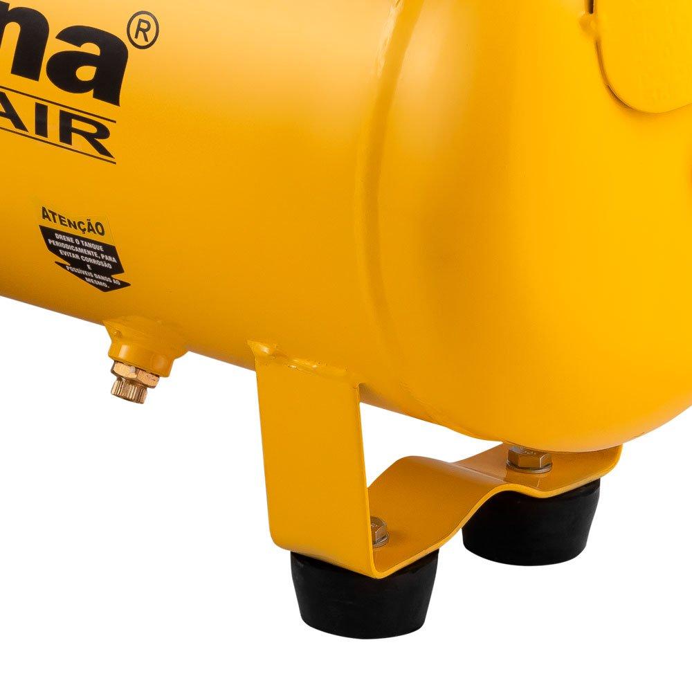 Motocompressor de Ar 2 HP 24 L 8,5 Pés 8 bar  - Imagem zoom