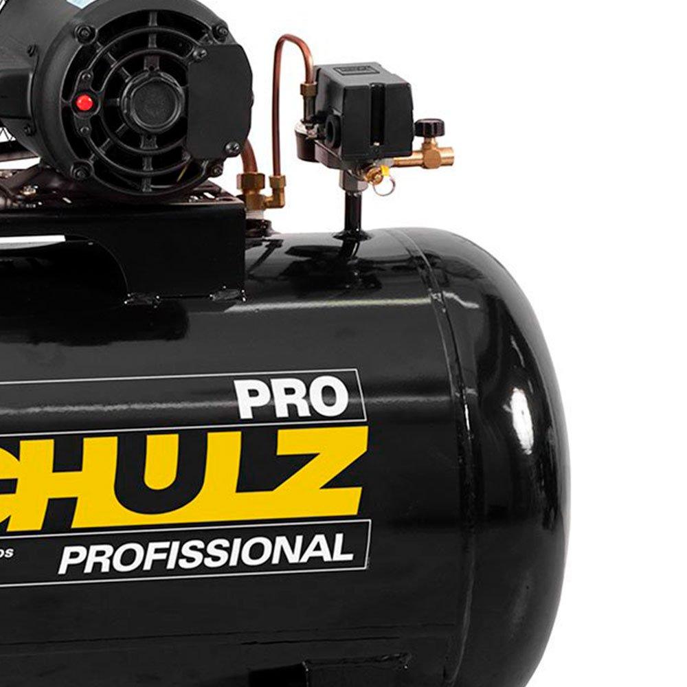 Kit Compressor de Ar SCHULZ PROCSV10/100 10 Pés 100L 2HP 140PSI Mono + Grampeador Pneumático ULTRA 1111102 com Capacidade 150 Grampos - Imagem zoom
