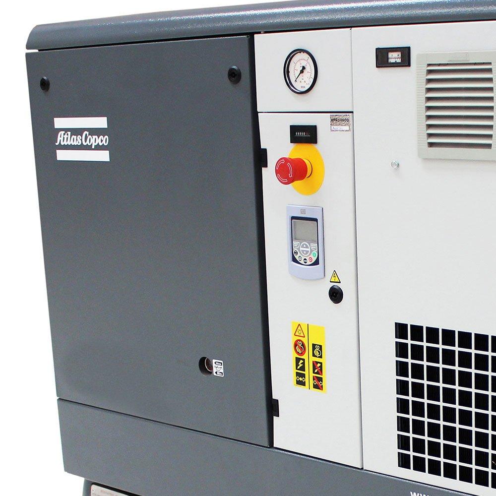 Compressor de Parafuso Rotativo Lubrificado 150PSI 15HP 265L Trifásico  com Inversor de Frequência - Imagem zoom