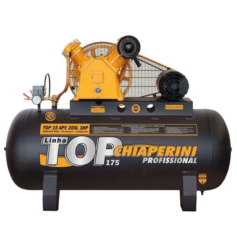 Compressor de Ar Alta Pressão 3HP 15 Pés 200 Litros 110/220V Monofásico - Imagem zoom