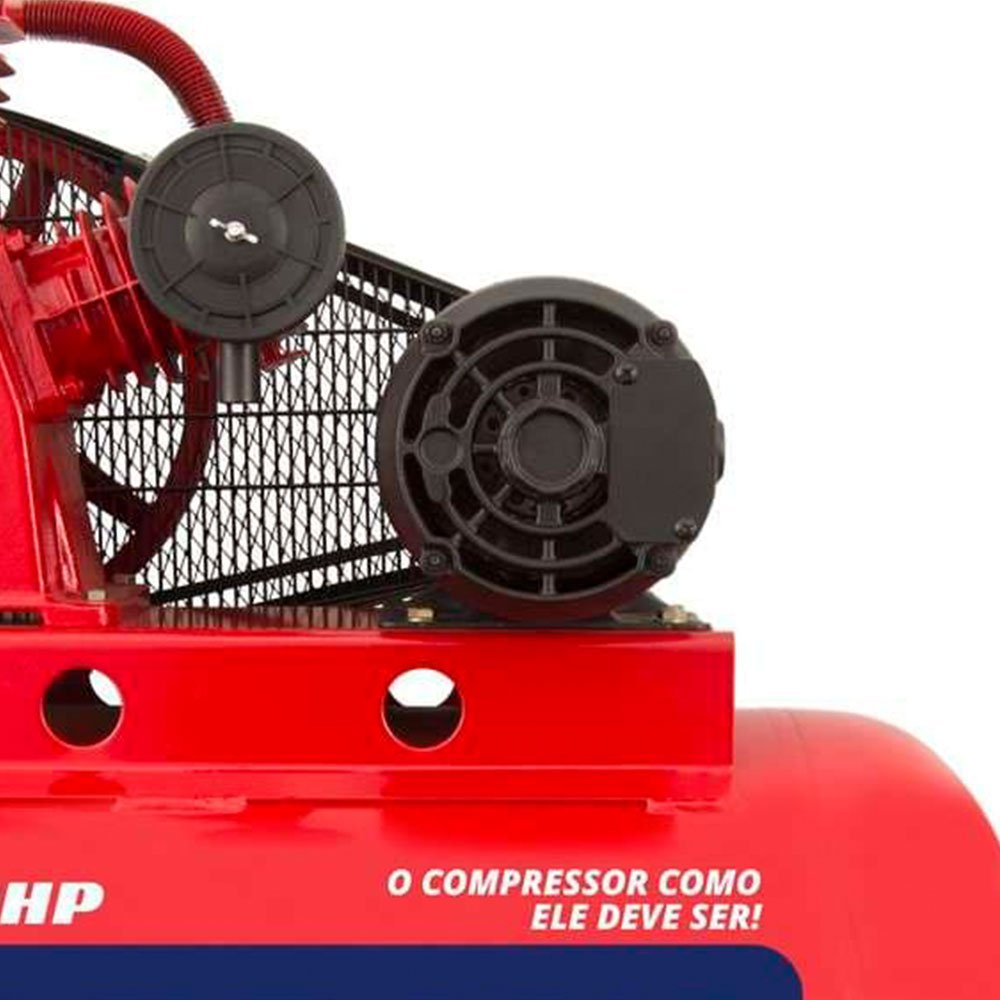 Compressor de Ar Média Pressão 15 Pés 3HP 150 Litros 220/380V Trifásico - Imagem zoom