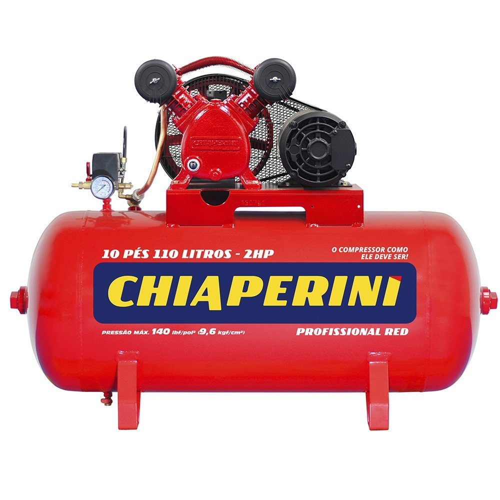 Kit Compressor de Ar CHIAPERINI 19751 Red 10 Pés Trifásico 220/380V + Chave Parafusadeira de Impacto Pneumática FORTGPRO FG3300 1/2 Pol. - Imagem zoom