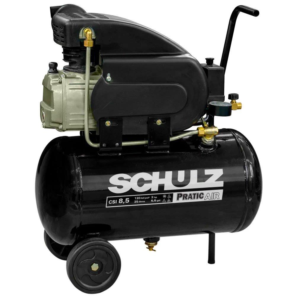 Kit Motocompressor SCHULZ-CSI-8525-AIR 8,5 Pés  Mono + Kit de Pintura com 5 Peças  - Imagem zoom