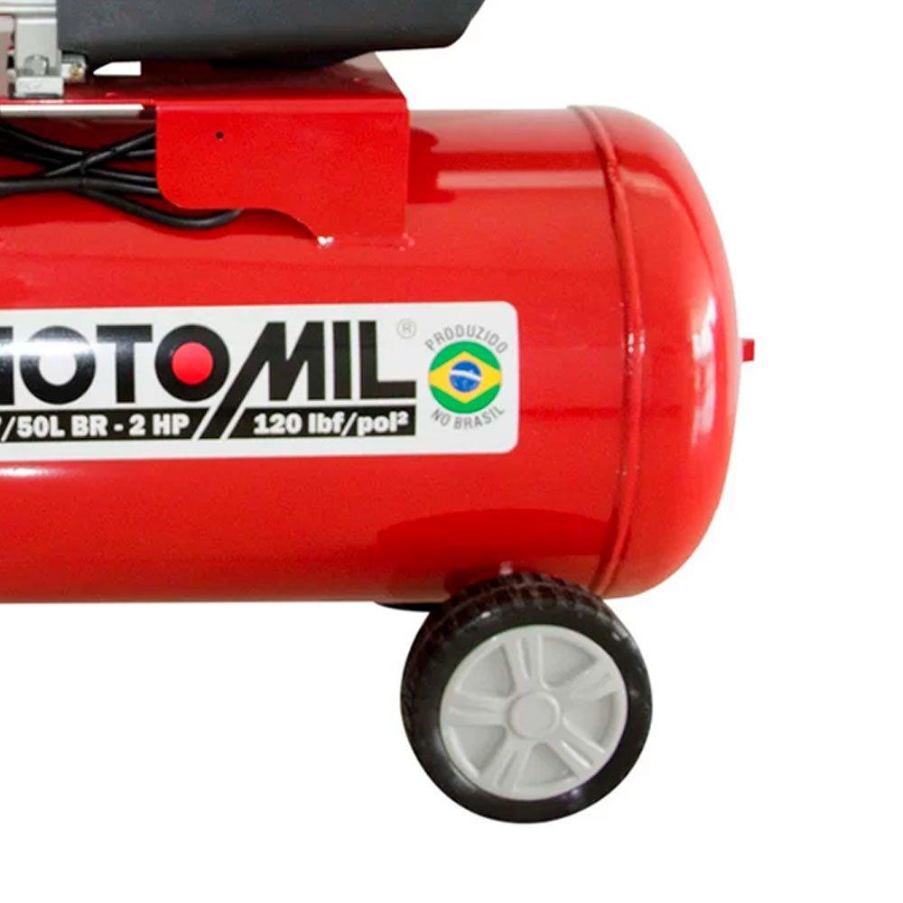 Kit Motocompressor MOTOMIL-37896.2 8,7 Pés 50L  + 2 Óleos Lubrificante SCHULZ-0100011-0 1 Litro - Imagem zoom