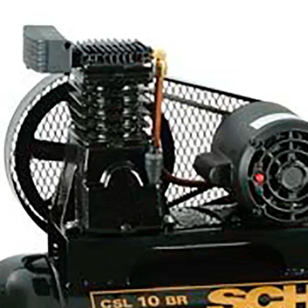 Kit Compressor SCHULZ-MONOCSL10BR Profissional Industrial + 2 Óleos Lubrificantes 1 Litro  - Imagem zoom