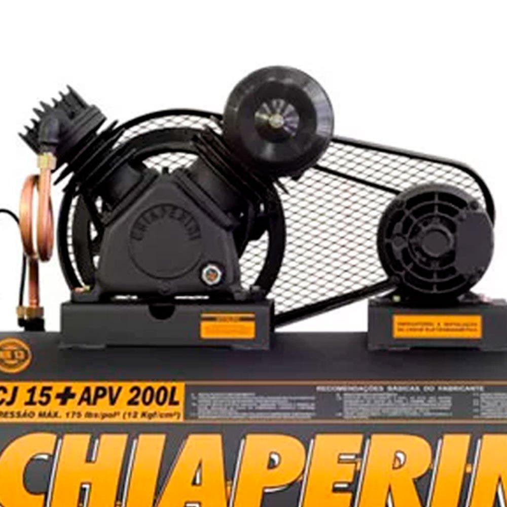 Kit Compressor CHIAPERINI-CJ15+200L/TRIF + 2 Óleos Lubrificante 1 Litro  - Imagem zoom