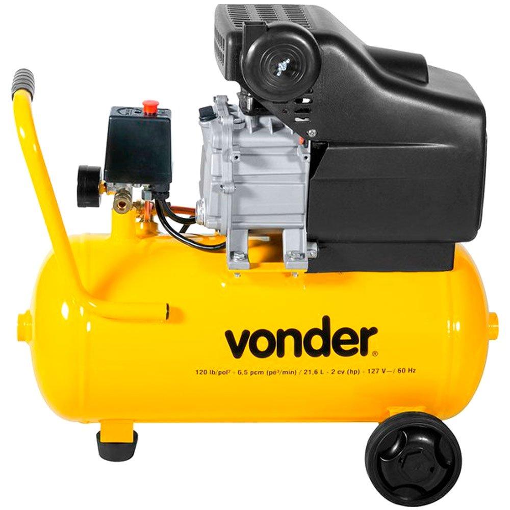 Motocompressor de Ar 21,6 Litros 6,5 Pés 2 CV  - Imagem zoom