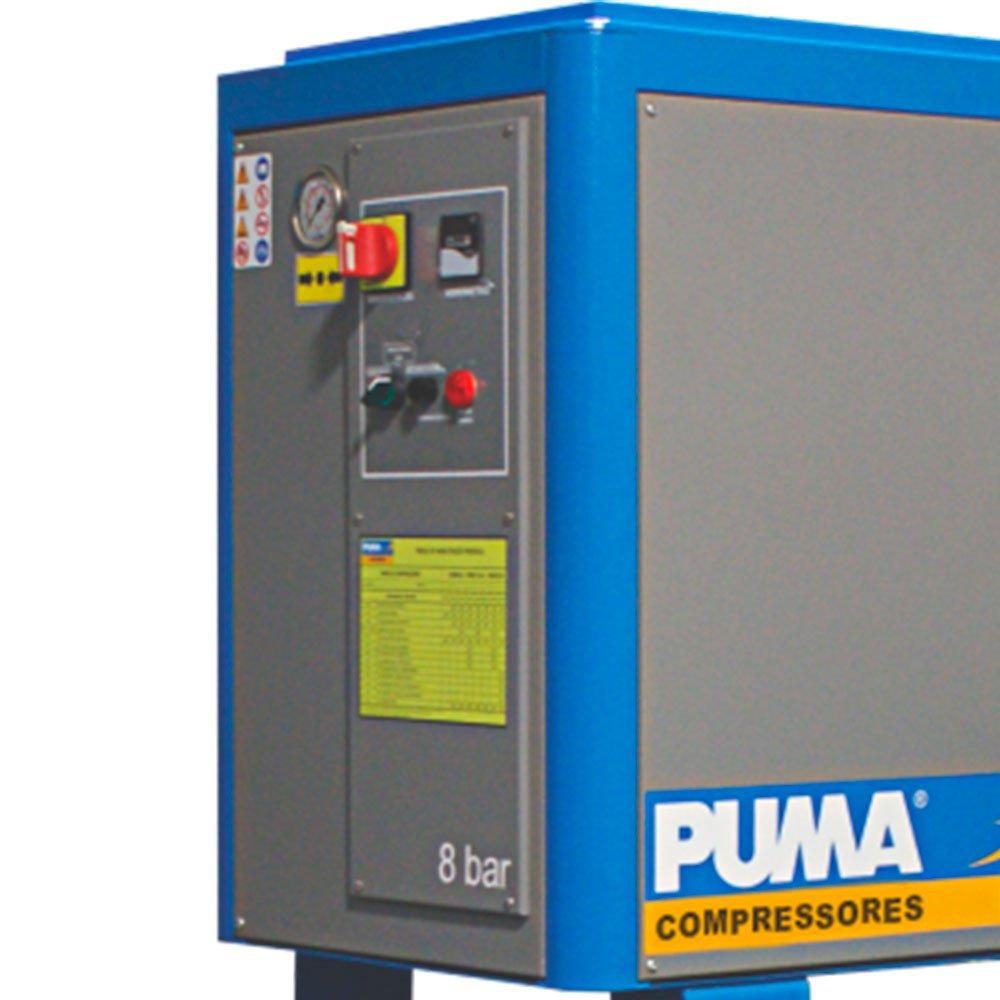 Compressor de Ar Parafuso 10HP 39PCM 270 Litros  - Imagem zoom