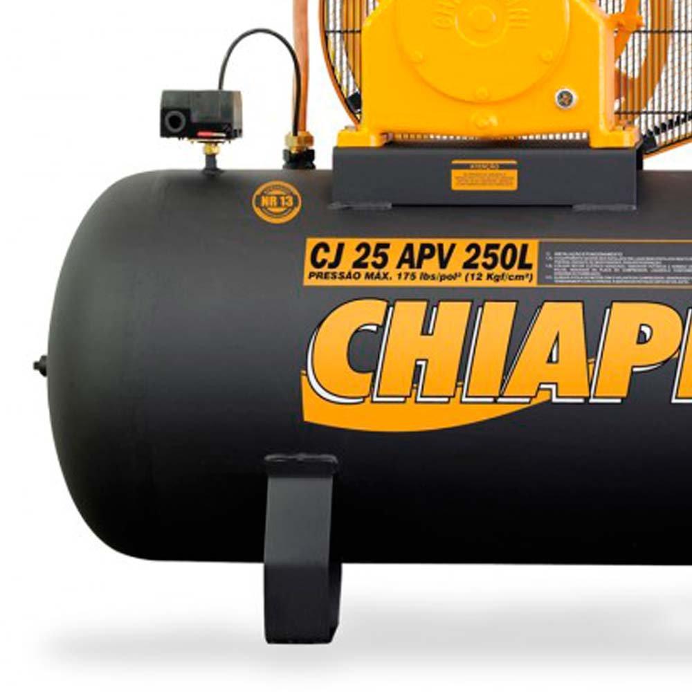 Compressor Industrial 25 Pés 250 Litros 5 HP 220/380 V - Imagem zoom