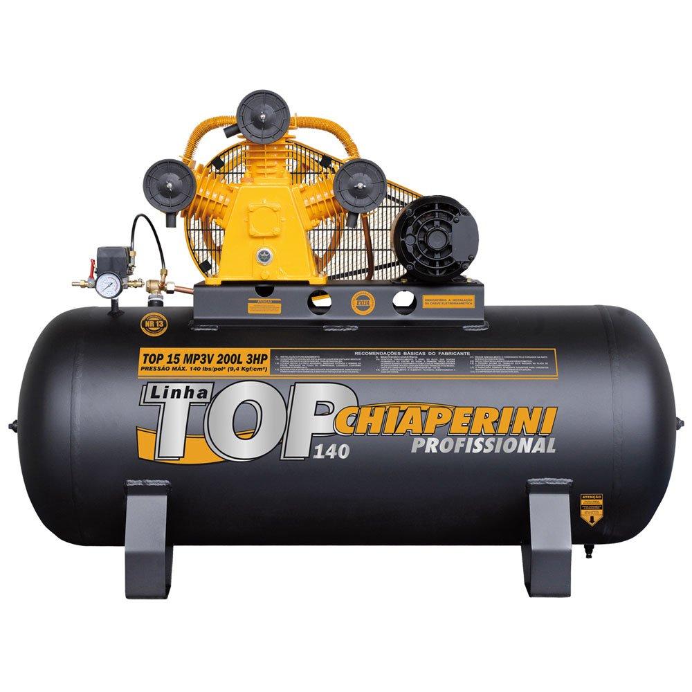 Compressor TOP 15 MP3V 200 Litros Motor 3 HP Trifásico - Imagem zoom