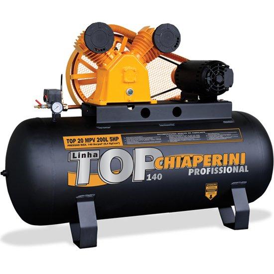 Compressor TOP 20 MPV 200 Litros Motor 5 HP Trifásico - Imagem zoom