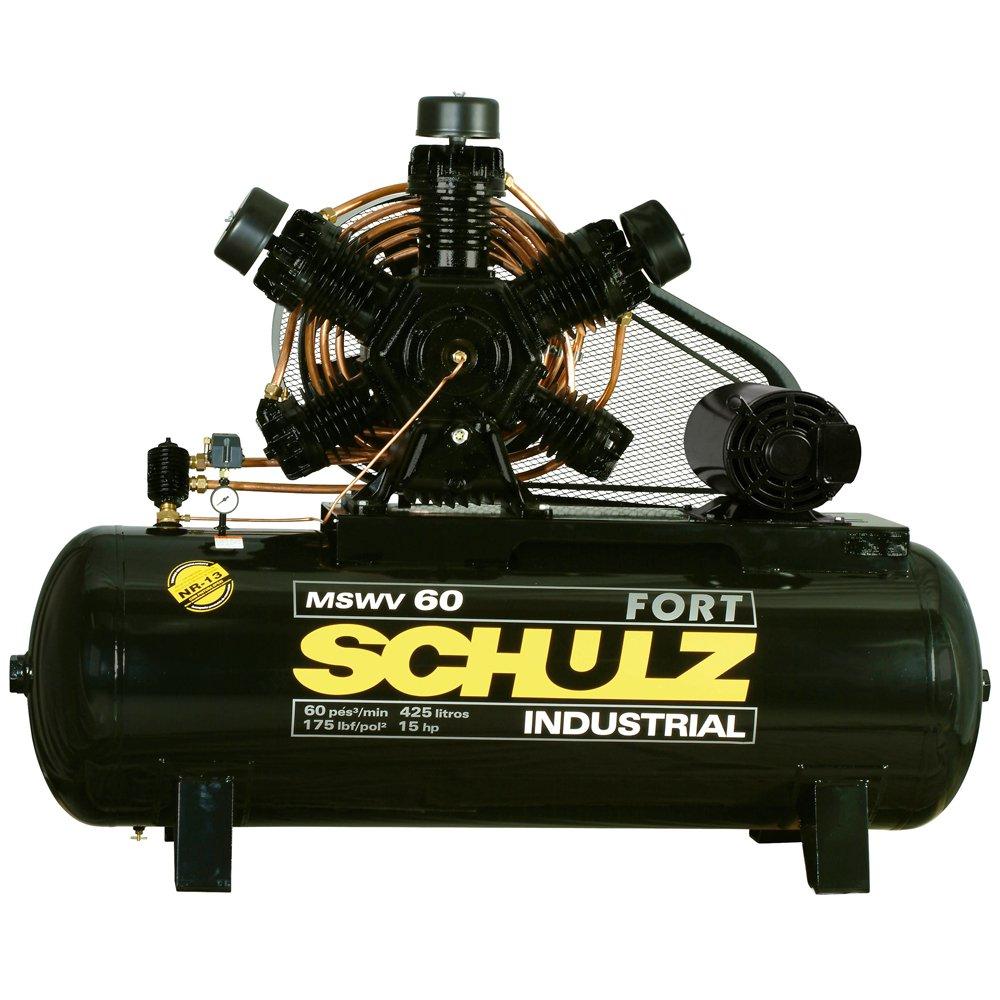 Compressor de Ar 60 Pés 425 Litros com Motor Aberto Trifásico 220/380V - Imagem zoom
