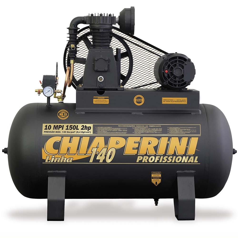 Compressor 140psi 10MPI/150 Litros Trifásico 2 HP - Imagem zoom