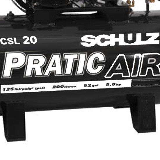 Compressor Pratic 20/200 Litros Trifásico - Imagem zoom