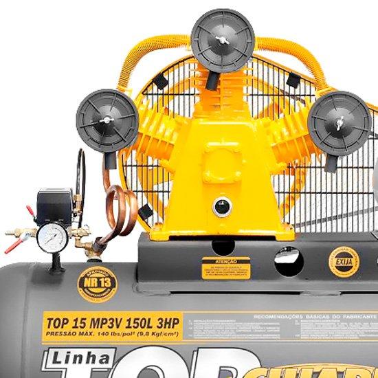 Compressor Top 15 MP3V 150 Litros Motor 3Hp Trifásico - Imagem zoom