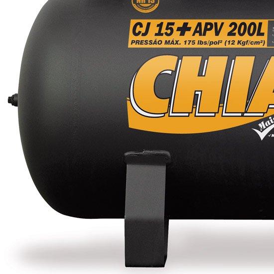 Compressor de Ar Industrial 15+PCM/APV 200 Litros Monofásico - Imagem zoom